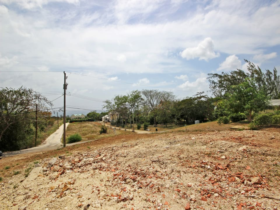 Elevated lot with views