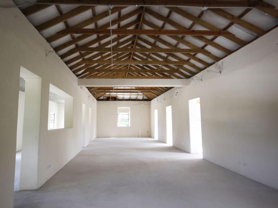 Upper floor open plan space