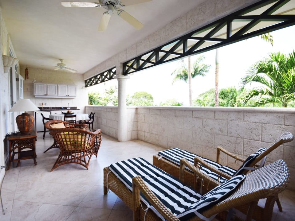 Patio which has access to two Bedrooms and the Living Room
