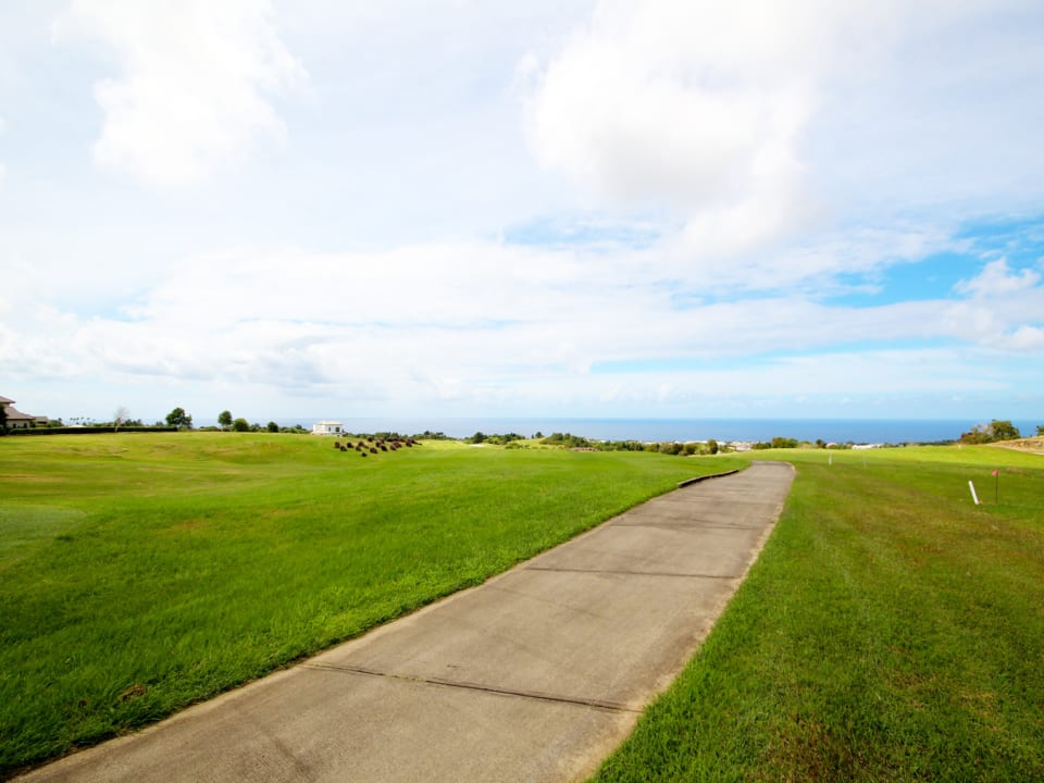 Fairway and sea views