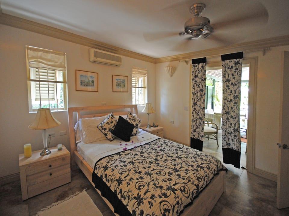 Guest bedroom on ground floor opens to terrace