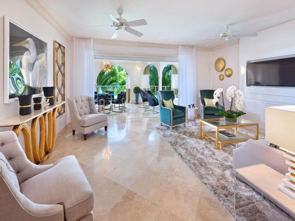 The spacious living area extends onto the oceanfront terrace