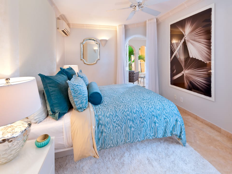 Guest bedroom with private ocean view terrace