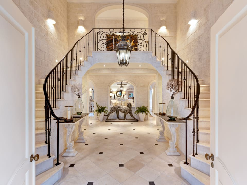 Foyer, grand staircase