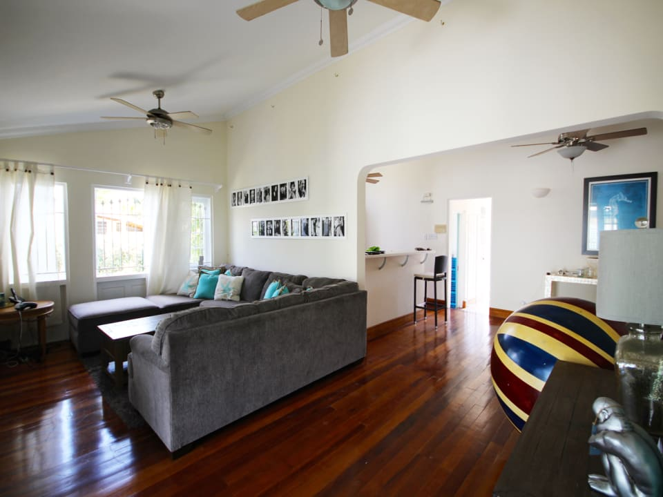Expansive rooms with wooden floors
