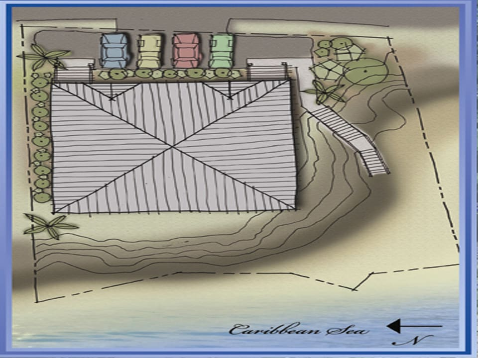 Site plan for townhouses