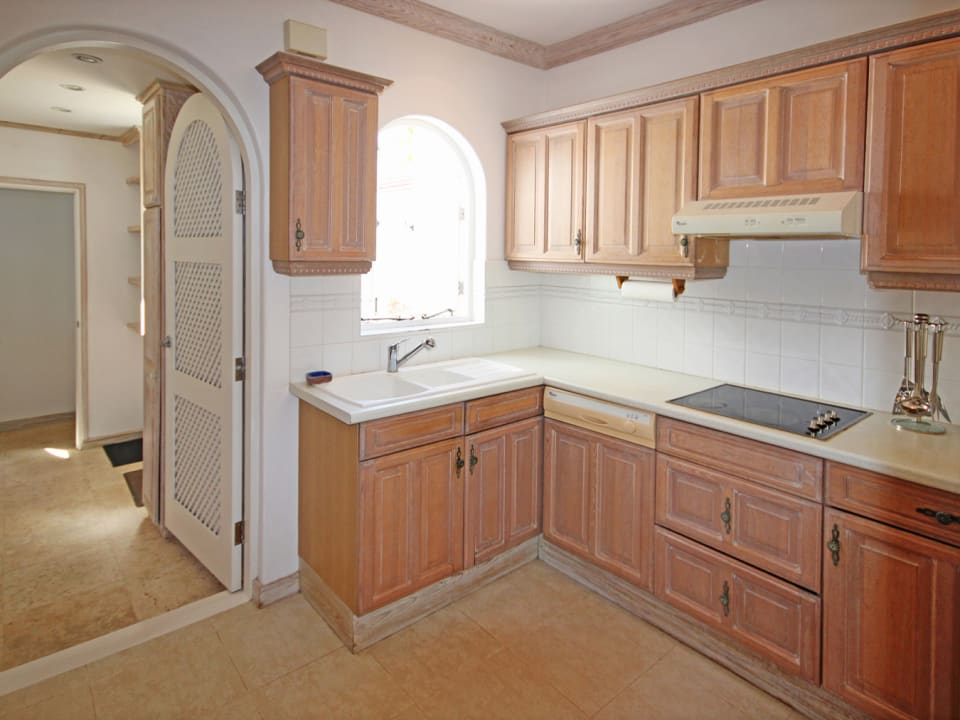 Kitchen with adjoining Laundry Room