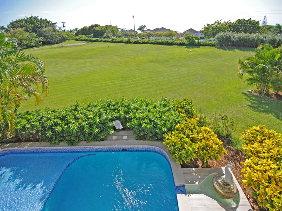 Lovely views of the Royal Westmoreland gardens and ocean beyond