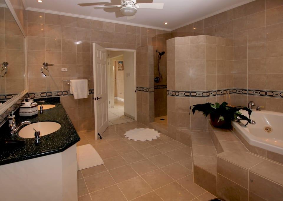 Spacious master bathroom
