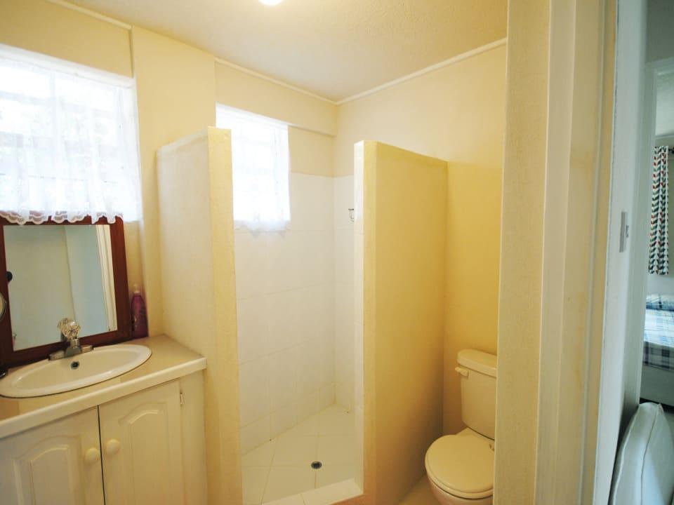 Lower apartment bathroom