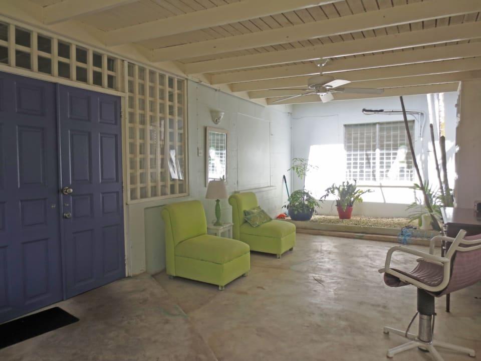 Patio/reception area