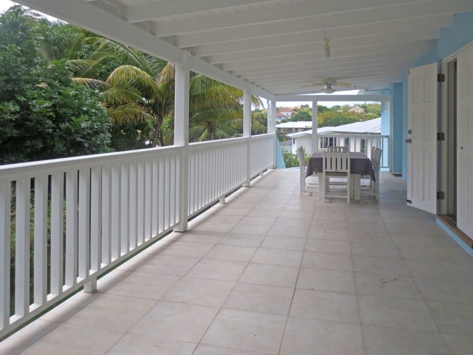 Large back patio