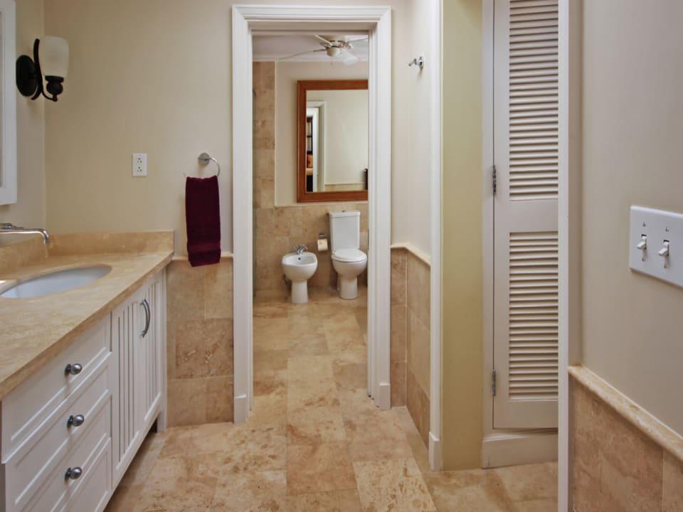 Master bedroom closet and bathroom