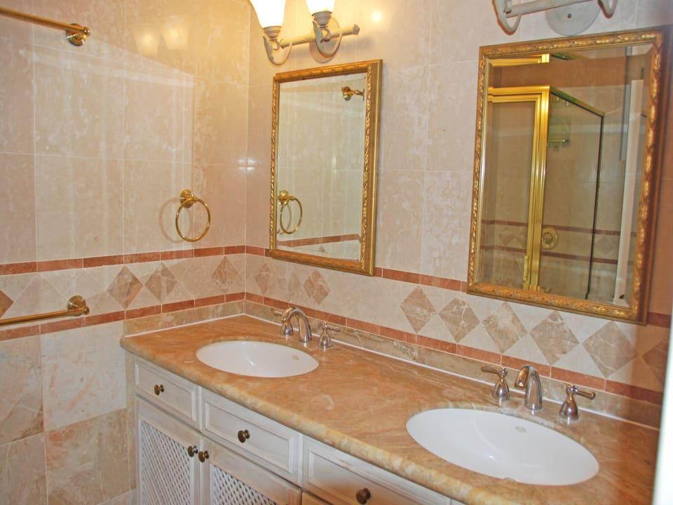 Bathroom with double vanity