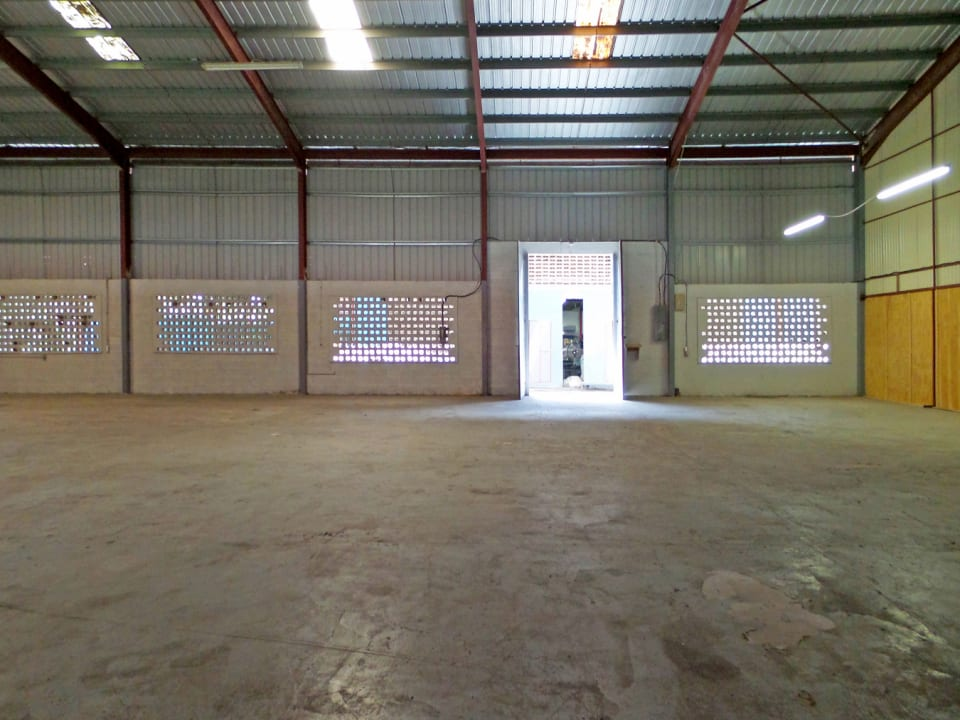 Open plan warehouse space