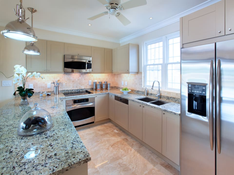 Classic kitchen with stainless steel appliances