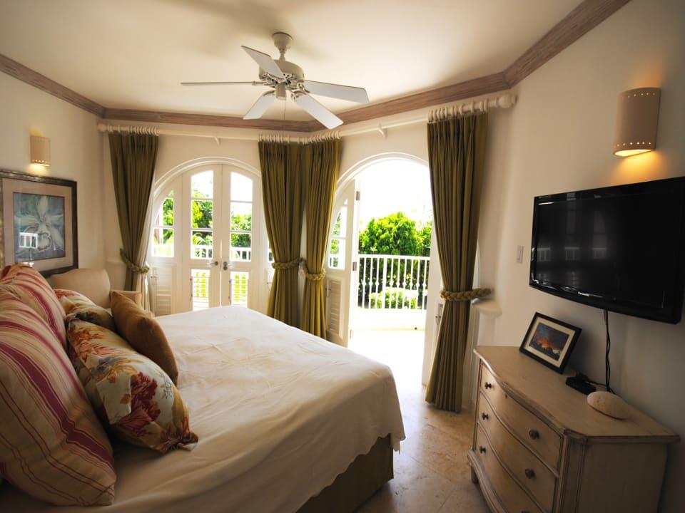 Master bedroom opens to verandah