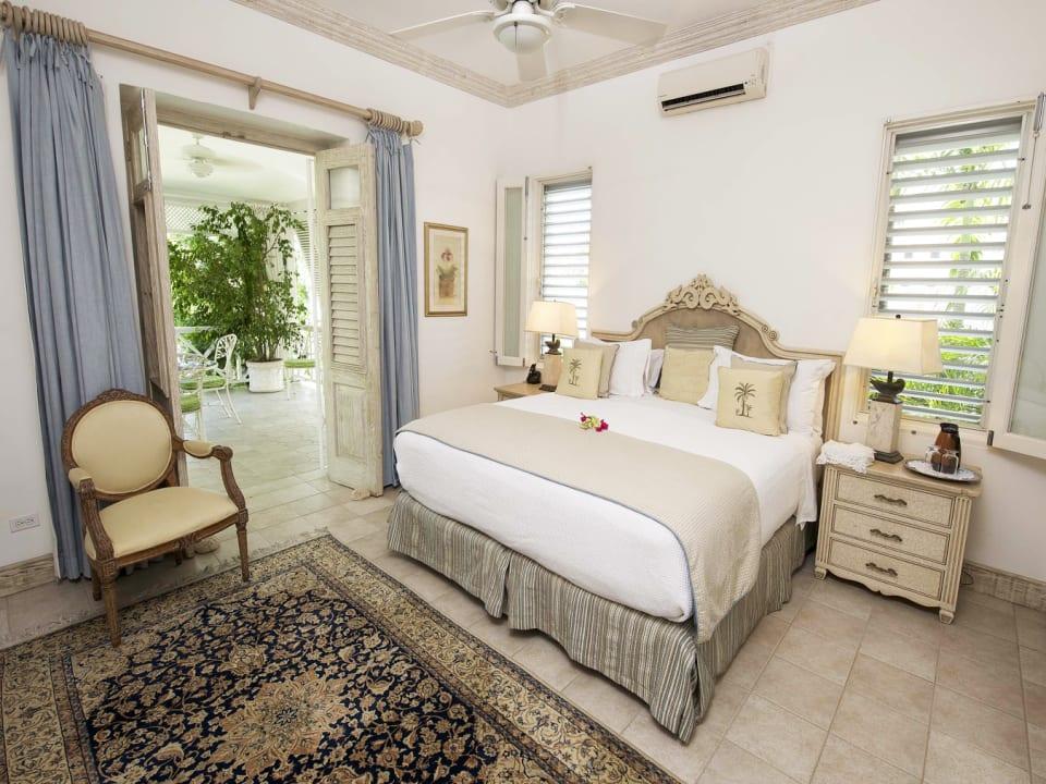 Master bedroom opens to veranda