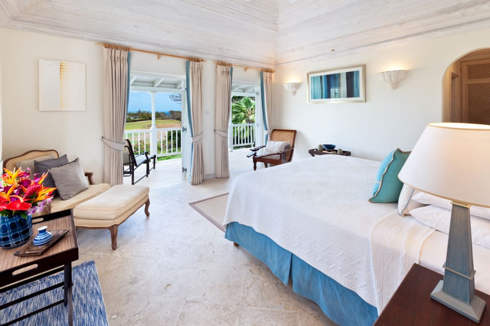 Master bedroom opens to balcony and views