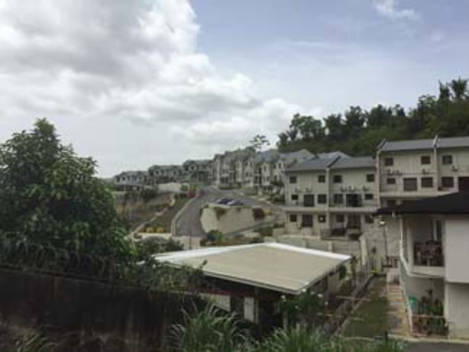 view of the Hillcrest Manor development from the house