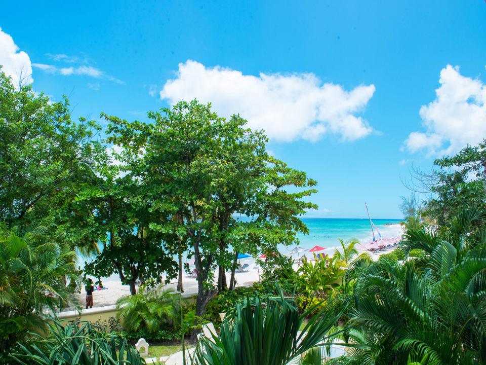 View of Dover beach from the patio of 104