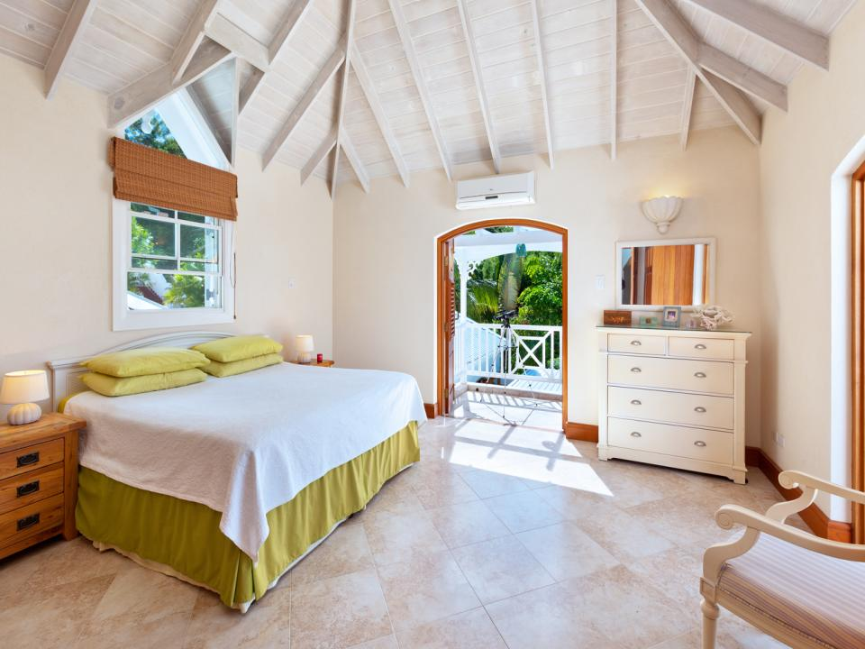 Master bedroom has two private balconies