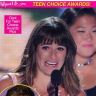 Lea Michele Gives moving Speech in dedicating teen choice award to Cory Monteith