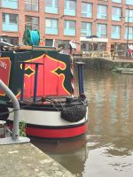 A restaurant on the water inside gloucester docks