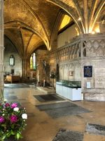 Inside Tewkesbury Abbey