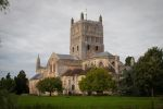 Tewkesbury Abbey from the garden side