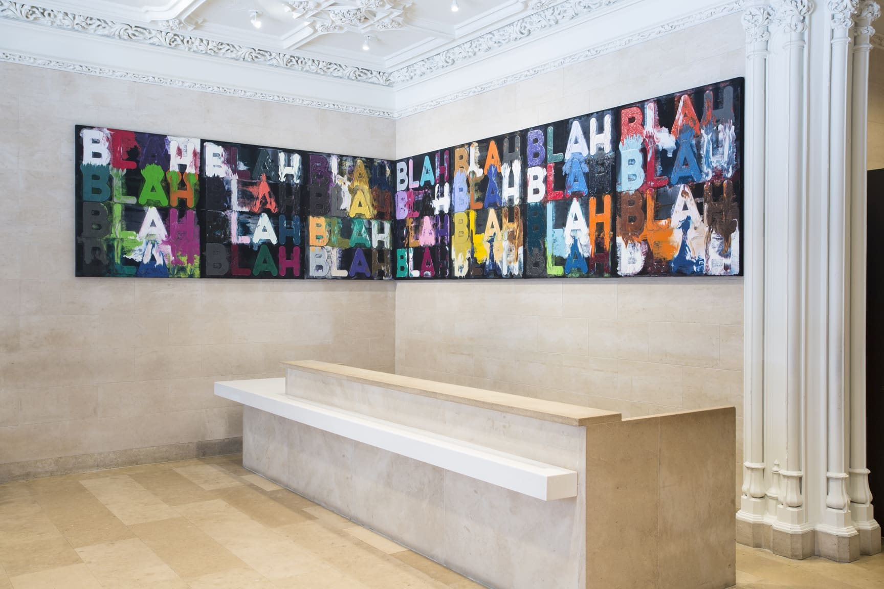 Large-Scale Painting by Mel Bochner Created for the Jewish Museum's Lobby