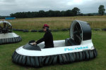 Matt Whistler prepares his hovercraft