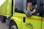 Latest People: Comedian Jo Brand visits Cityclean