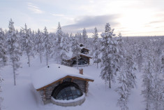 Kelo-Glass Igloo at  Kakslauttanen Arctic Resort