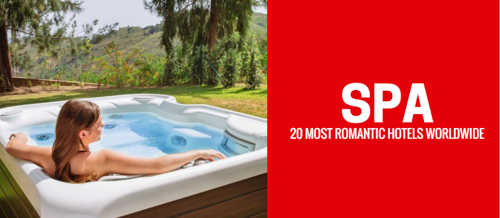 Woman in outdoor hot-tub