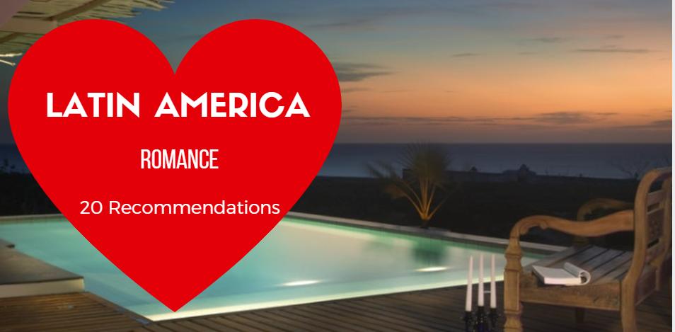 Romantic hotel pool at sunset