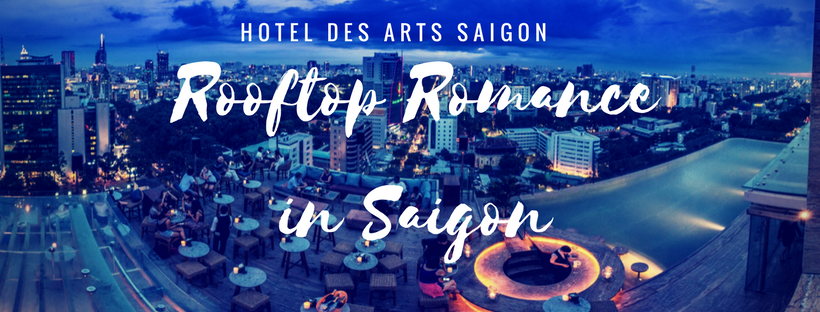 Rooftop view of Ho Chi Minh City from Hotels des Arts Saigon