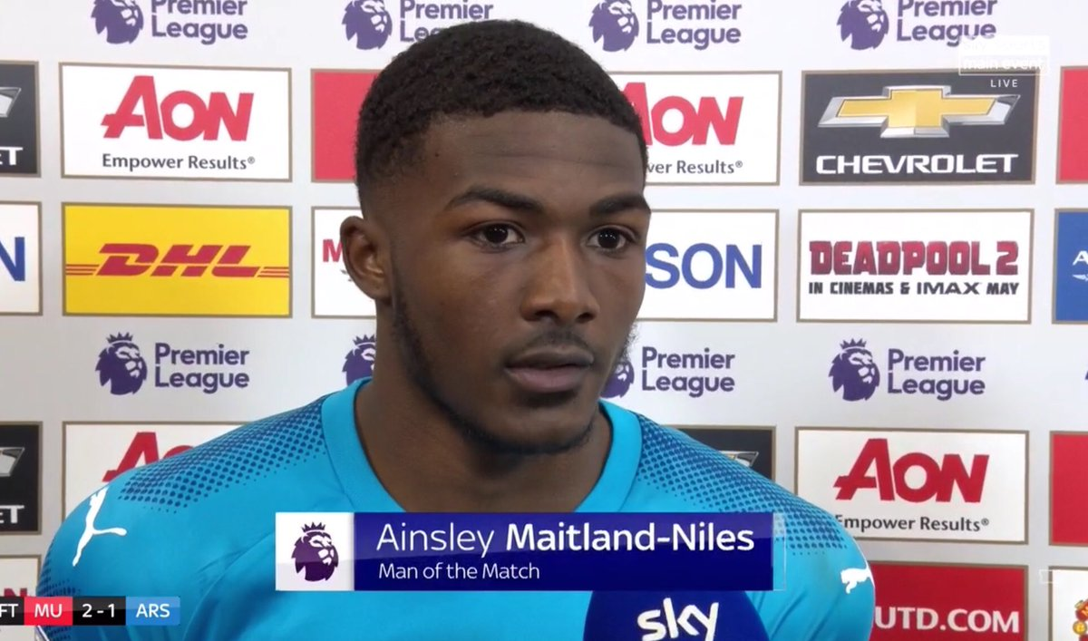 Maitland Niles won the man of the match award at Old Trafford despite being on the losing side