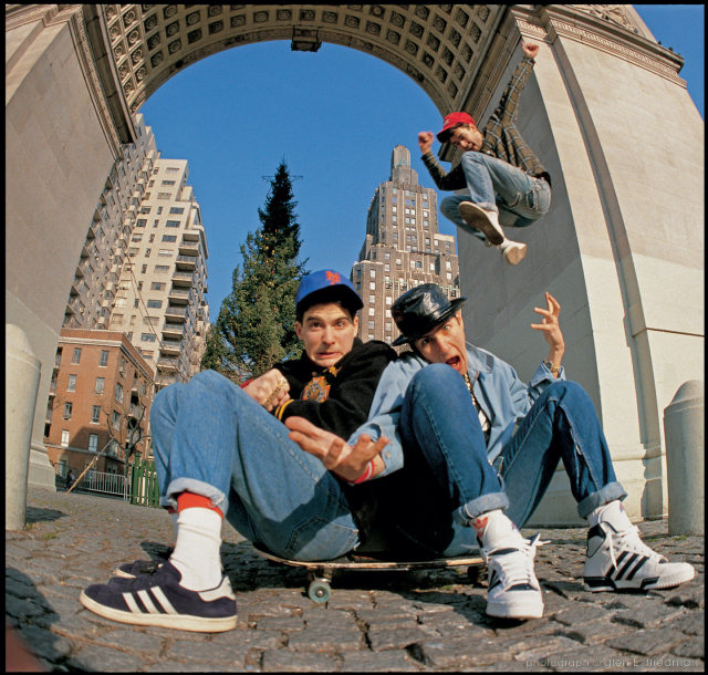 Beastie Boys, photographed by Glen E. Friedman in New York, 1986