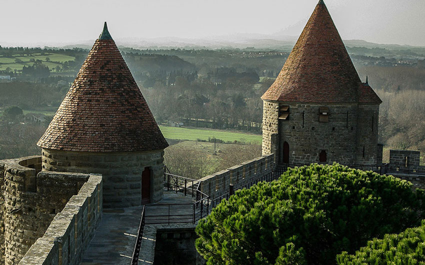 languedoc roussillon france towers