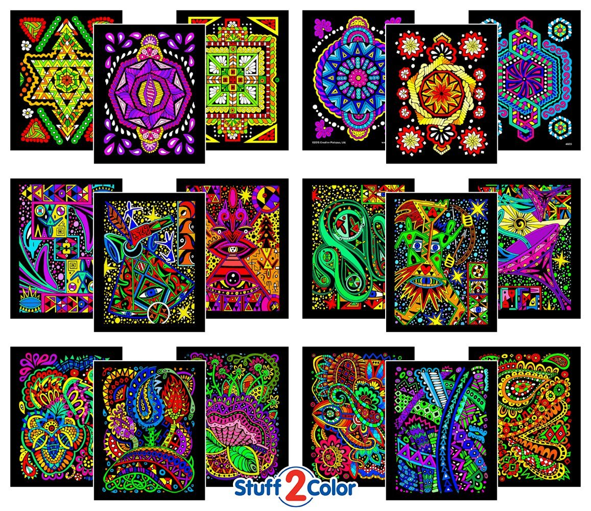 Them.gifts - Pack of Fuzzy Velvet Coloring Posters