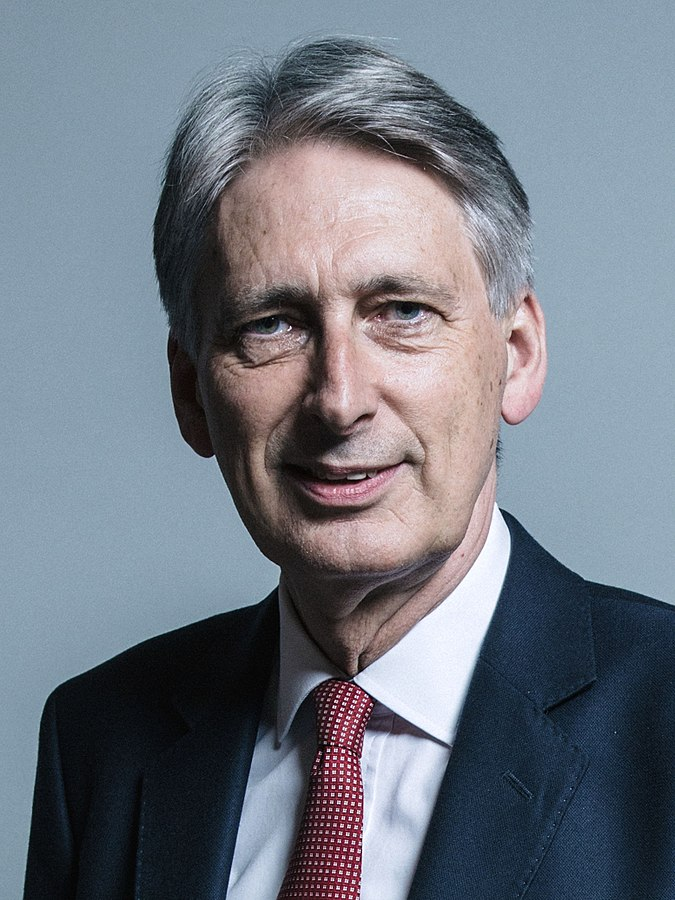 Il Cancelliere dello Scacchiere, Philip Hammond