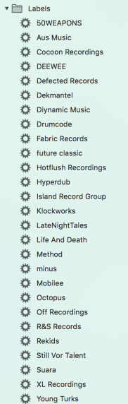 Labels as smart playlists