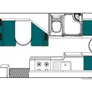 Australia maui Beach Motorhome Floorplan Day