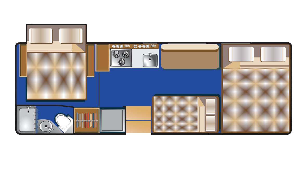 Class C 25-27ft (P) Floorplan Night