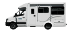 Side profile of the Maui 4 Berth Cascade Campervan