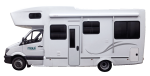 Side profile of the Maui 4 Berth Beach Campervan