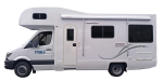 Side profile of the Maui 4 Berth Beach Campervan