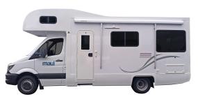 Side profile photo of the Maui 4 Berth Beach Campervan