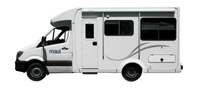 Side profile photo of the Maui Cascade 4 Berth Campervan